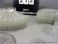 LOT (18): FOSTORIA PRESSED GLASS FAN SHAPED SNACK