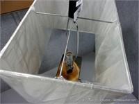 DARK DECORATIVE DESIGNER TABLE LAMP W/ EXTRA OUTLE