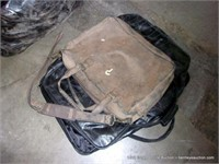 LOT (3): SMALL BLACK TRAVEL SUITCASE, 2- SMALL SOF