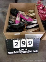 BOX: ASSORTED LADIES SHOES