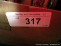 BOX: ASSORTED PICTURE FRAMES, DISPLAY CASE, FILE H