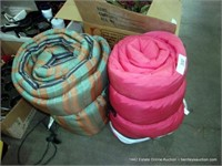LOT (2): ASSORTED SIZED CAMPING SLEEPING BAGS