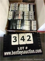 BOX: MIXED AUDIO CASSETTE TAPES