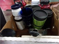 BOX: MIXED UTENSILS & INSULATED CUPS