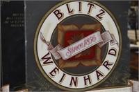 BLITZ WEINHARD Mirrored Advertising Wall Sign