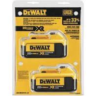 DCB204-2 20V MAX Lithium-Ion Premium LiIon Battery
