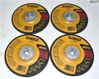 4 DeWalt Type 27 Depressed Center Wheels DW4626