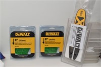 """TWO 8"""" Pole Saw Replacement Chains & 8"""" Bar"""