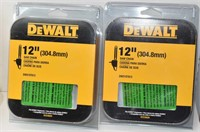 Two 12 in. Chainsaw Chain 45 Link DWO1DT612