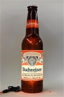 1988 BUDWEISER KING OF BEERS LIGHTED BOTTLE SIGN