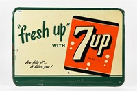 """""""FRESH UP"""" WITH 7UP EMBOSSED SST SIGN"""