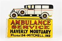 HAVERLY MORTUARY SERVICE AMBULANCE PORC. FLANGE