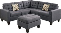 Sectional with Ottoman Set