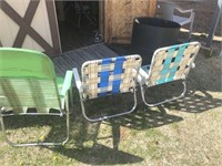 Lawn and fishing chairs
