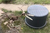 Yard art and tub