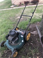 Yard Man lawnmower & pick up rubber liner