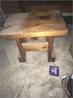 End table and bookshelf