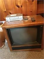 Zenith color console TV