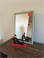 Shaving mirror and nutcracker