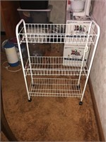 Wire shelving on wheels