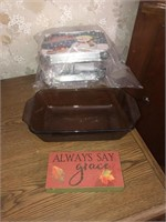 Glass loaf pan and take out containers