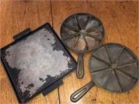 Cast iron corn bread pans