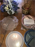 Deviled eggs tray and microwave plates