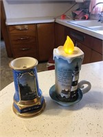 Two  lighthouse candles
