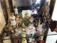 Shelf full of knickknacks