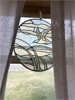 Glass musical wind chime