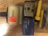 Hamilton Beach electric knife and Vivitar camera