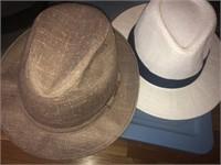 Tote full of men & women's hats