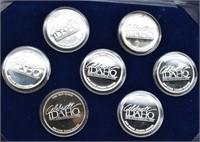 1890-1990 Idaho Centennial Silver Medallion Set 7