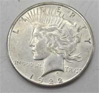 1922 S Peace Silver Dollar XF