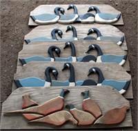 (5) Outdoor Plaques, wood, handmade