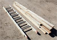 Aluminum Ladder, Misc Redwood Pcs
