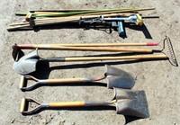 Yar Tools, shovels, rakes, hoes, etc