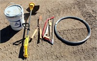 Misc, weed eater, yard tools, roll wire