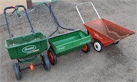 (2) Seeders, Metal Lawn Cart