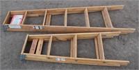 (2) Wood Step Ladders