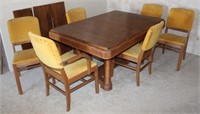Vintage Dining Room Set (table, 6-chairs)