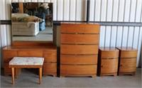 Vintage Bedroom Dresser Set