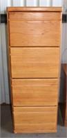 Oak 4-Drawer File Cabinet