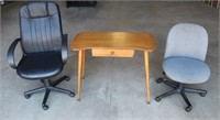 (2) Office Chairs, HMD Vanity