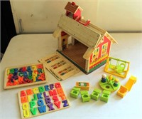 Vintage Toy School and Accessories