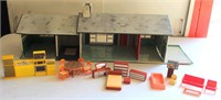 Vintage Toy Play House & Accesssories