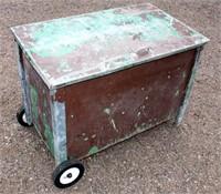 Medium Metal Tool Box on Wheels