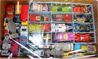 Box of Vintage Toy Cars