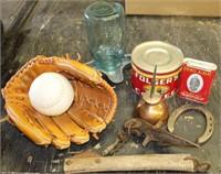 Mitt, Softball, Vintage items