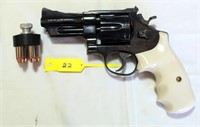 Lot 6022/Gun 22 - Smith & Wesson Pistol, Mdl 27-2, Double Action, 357 cal, Full Revolver w/Hammer, SN: S297988 w/case